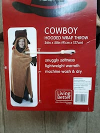 Cowboy Hooded Blanket Throw  Mississauga, L5M 5V5