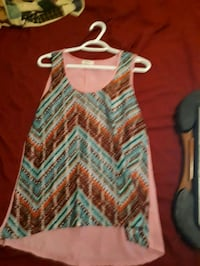 multicolored tank top