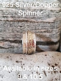 925 STERLING SILVER SPINNER (MEDITATION ) RINGS ! Burlington, L7L 7J4