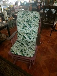 green and white floral padded armchair Lancaster, 93534