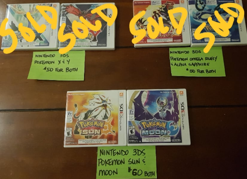 POKEMON SUN AND MOON NINTENDO 3DS GAMES 88411e0d-7fb9-4bed-b68d-f5a7cd15f686