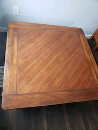 rectangular brown wooden coffee table London