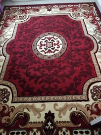 red, white, and black floral area rug Jacksonville, 32216