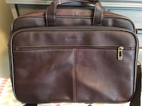 Heritage Brown Leather Briefcase with Strap Washington, 20003