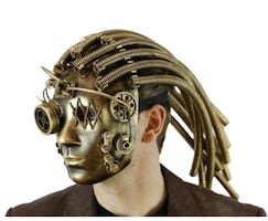 Awesome Hallo Steampunk Mask with steel coil looki