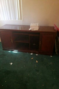 brown wooden TV stand with flat screen television Bonita, 91902