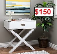 AJ- X Base Wood Accent Table Mississauga