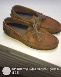 Sperry's men's Size 9.5- good condition cleaned London, N5W 1E8