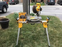 "DeWalt 10"" Miter Saw with stand and extra blade Burlington, L7N 3M1"