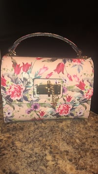 White, pink, and green floral handbag Columbia, 21045