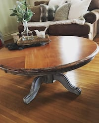 brown wooden frame glass top coffee table Hagerstown, 21740