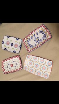 "Stoneware 4-Tray Gypsy Collection. 8""x5"" Like New! Reg. $75+"