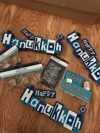 Hanukkah misc items.decorations . cookie cutters  new. lot.make offer. Clay, 13212