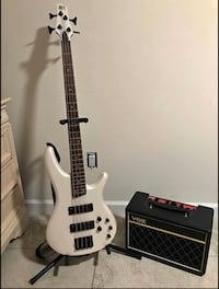 Bass guitar plus vox speaker