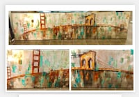 "2 x Large canvass Art. 59""x27"" each. Mint! Las Vegas, 89138"