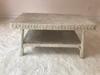 White wicker coffee table Yonkers, 10707