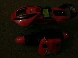 red and black RC toy car