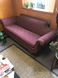 brown and red fabric sofa Bethlehem, 18018