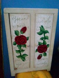 white and red floral wooden cabinet New Haven, 06513
