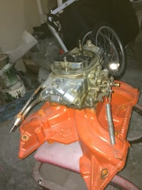 Holley 750 mechanical secondary's and fuel line works great $250 .. mopar 440 street dominator $200  Lynden, 98264