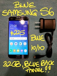 Trade or Firm$225..BLUE SAMSUNG S6 32B+charger Beaconsfield, H9W 2E1