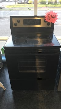 black induction range oven and microwave oven Toronto, M3J