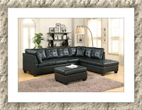 Black sectional free ottoman and delivery Falls Church, 22041