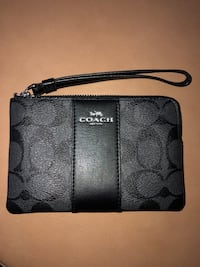 Black monogram coach wristlet  Kitchener, N2E 4B8