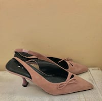 Paloma Rust Pink Pointed Kitten Heels - Size 8M Los Angeles, 91602