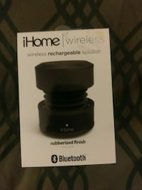 black iHome wireless portable speaker