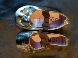 Gold butterfly shoes size 4