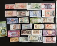 Collection of World Notes - 6 continents Calgary, T2G