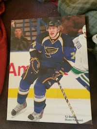 TJ Oshi  St. Louis Blues Forward,Canvas on Print Saint Charles, 63303