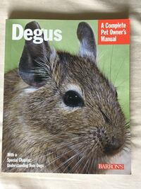 Two books on degus - new condition