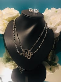 Dior necklace and earring set diamond beautiful  Toronto, M3L 1S2
