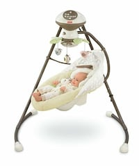 Fisher Price My Little snugbunny cradle and swing