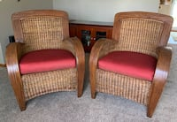 Set of (2) Pier 1 rattan chairs Albion, 46701