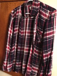 Gap Plaid Blouse New York