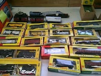 Trains ho track,town, people,cars, turnaround,to much stuff Enterprise, 89123