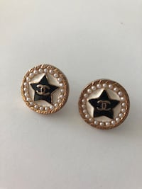 Chanel large studs star earrings