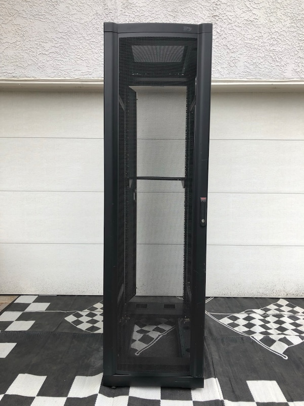 APC NetShelter - Rack - cabinet - black - 42U - 19-inch $1,000 new online  now 42 long 23 wide 81 5 Tall