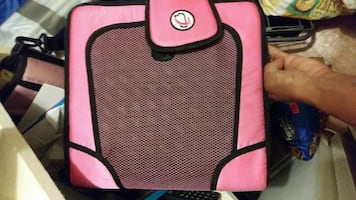 Square pink and black case