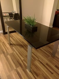 Black Glass Dinning Table (seats up to 6-12) WASHINGTON