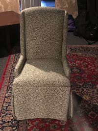 gray and pink floral fabric sofa chair Rome