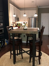 Pottery Barn Reclaimed Wood high top dining table set Reston, 20190