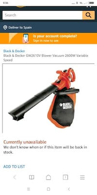 Aspirador black and decker Sant Vicenç de Montalt, 08394