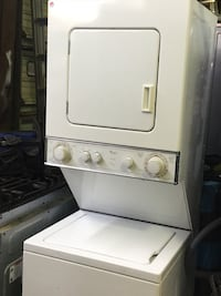 "Used condition 24"" wide stackable washer and electric dryer heavy duty works great with warranty we finance no credit needed we deliver $49 down payment  Houston, 77075"