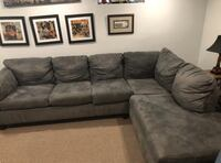 Comfortable Grey Sectional Couch Arlington