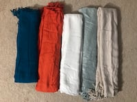 (5) scarves In excellent condition! From smoke free home.all for $15 (pick up only) Alexandria, 22310