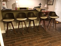 Five retro mid century bar stools Woodstock, 21163